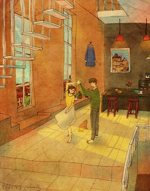 Cặp đôi chụp ảnh cưới theo bộ tranh vẽ tình yêu Hàn Quốc đình đám - 7