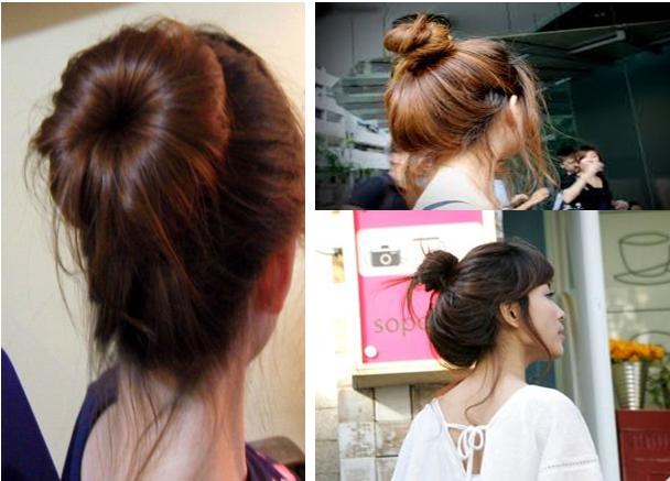 Búi tóc đơn giản đẹp