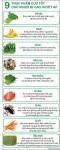 Infographic: 9 thực phẩm cực tốt cho người bị cao huyết áp