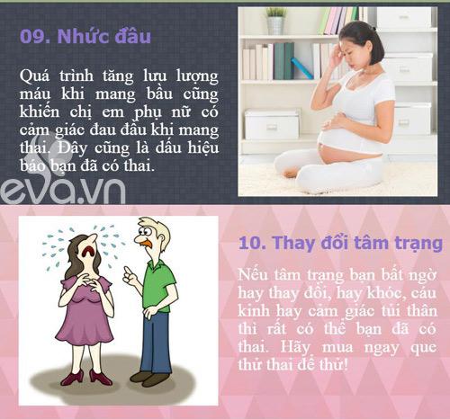 10 dau hieu co thai som nhat phu nu thuong bo qua - 6