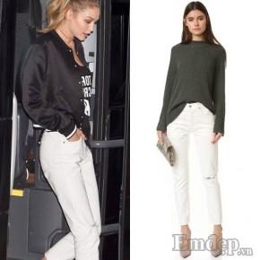 'Bóc giá' thời trang bình dân của Gigi Hadid và loạt sao Hollywood