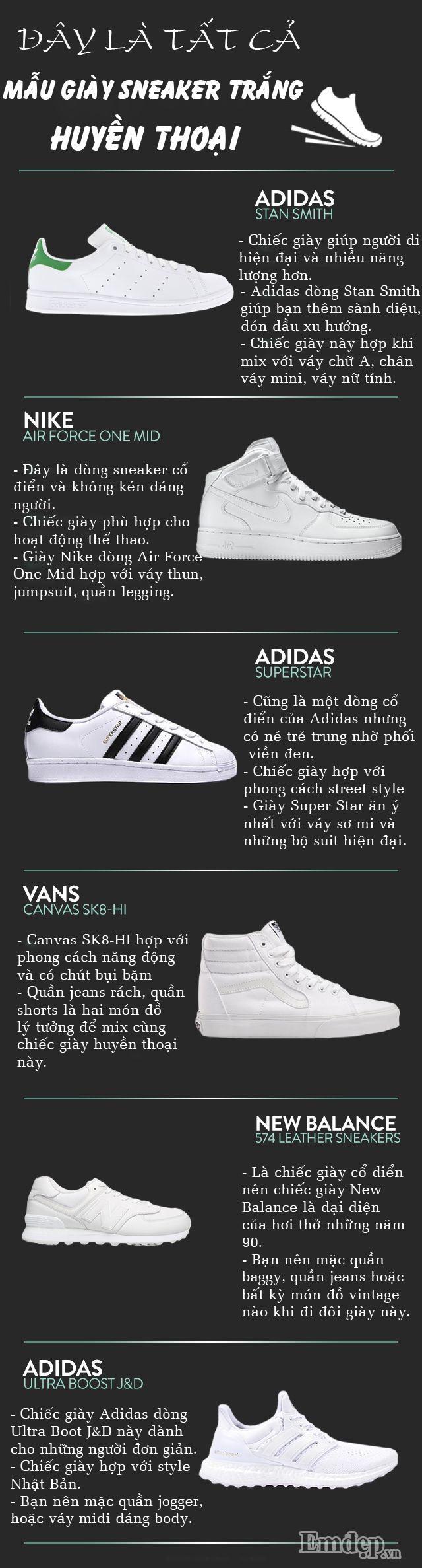 Đây là tất cả mẫu giày sneaker trắng mà ai cũng ao ước