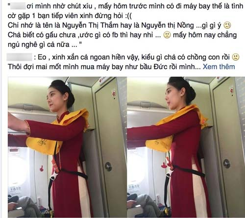 chi la tiep vien hang khong thoi ma, co can phai xinh the nay khong? - 1