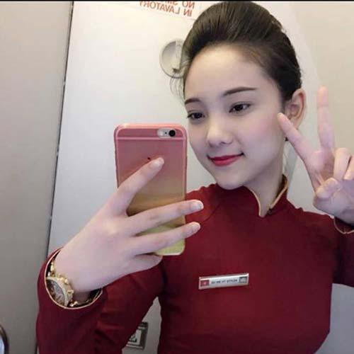 chi la tiep vien hang khong thoi ma, co can phai xinh the nay khong? - 4