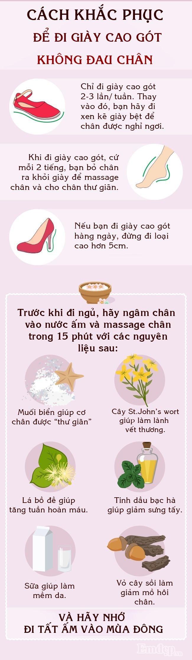 Các cô gái, đây là cách để đi giày cao gót không bị đau chân