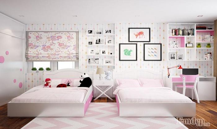 Những thiết kế phòng ngủ siêu đáng yêu dành cho bé