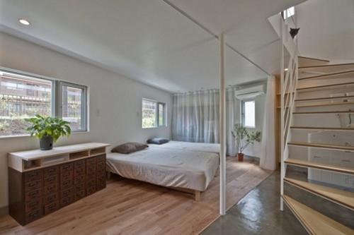 Tầng 1 được lựa chọn làm phòng ngủ.