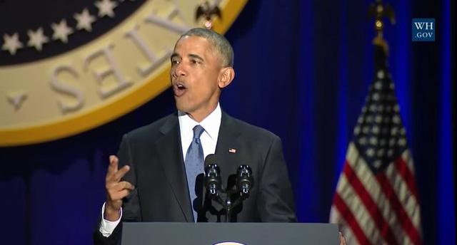 Tổng thống Obama phát biểu (Ảnh: Twitter)