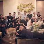 Tăng Thanh Hà lộ rõ bụng bầu trong tiệc sinh nhật của ông xã Louis Nguyễn
