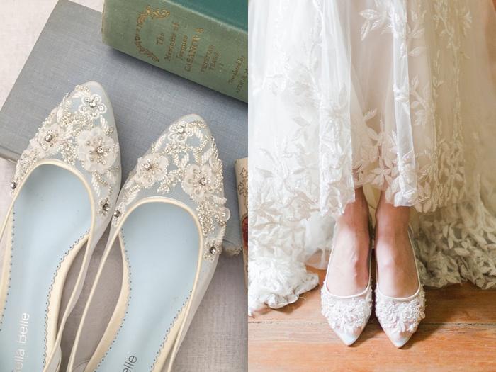 Cô dâu ơi, đây là những đôi giày bệt đẹp như cổ tích