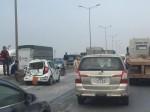 Hà Nội: 7 ô tô tông nhau trên cầu Thanh Trì