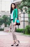 Cách phối hợp quần công sở theo nhiều style của chân dài Trung Quốc