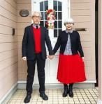 Học đôi vợ chồng già mặc đồ đôi cực 'cute'