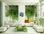 Trang trí phòng khách với hệ thống cây xanh ngập tràn năng lượng