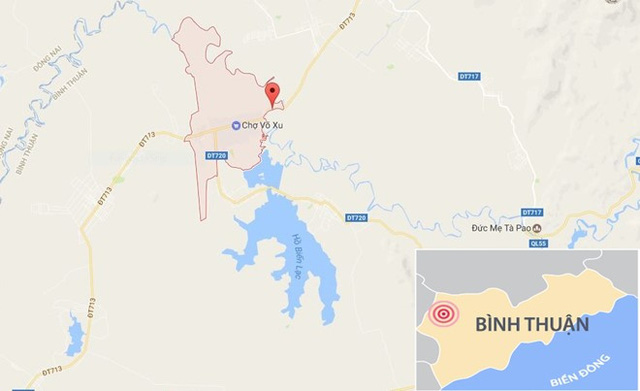 Vị trí xảy ra tai nạn (chấm đỏ). Ảnh: Google Maps.