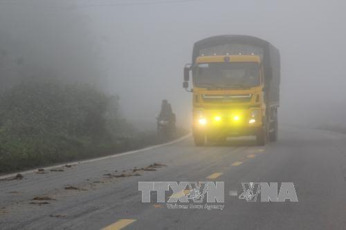 Miền Bắc phổ biến thời tiết sáng sớm có sương mù, có thể có mưa rải rác. Ảnh: Công Luật/TTXVN