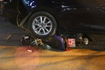 Xế hộp mất lái, tông hàng loạt xe máy