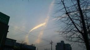 Điều kỳ diệu xuất hiện trên bầu trời Hàn Quốc ngay trước thời điểm trục vớt phà Sewol