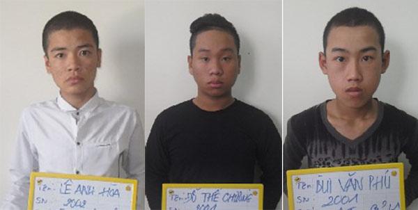 """3 đối tượng """"cộm cán"""" Hòa, Chương, Phú."""