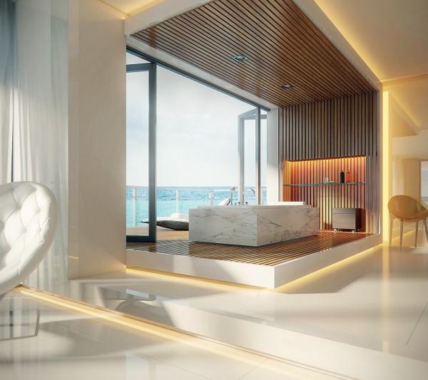 8 mẫu phòng tắm đơn giản được đặt ở những nơi cực đẹp