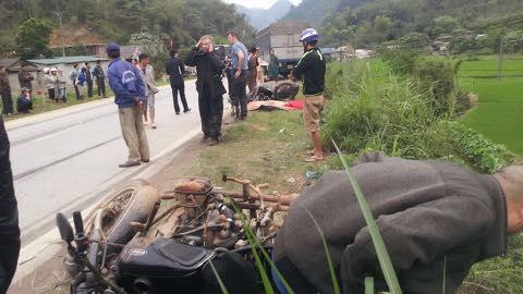 Hiện trường vụ tai nạn khiến 2 người Mỹ thương vong ở Hòa Bình