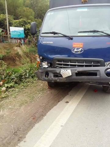 Chiếc xe ô tô trong vụ tai nạn