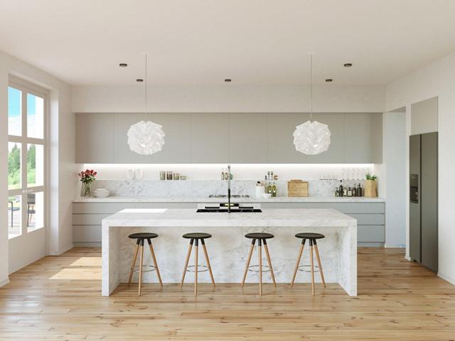 1. Bạn thấy đấy, nếu sử dụng một cách thích hợp bạn cũng có thể sở hữu một căn phòng bếp đẹp như mơ thế này.
