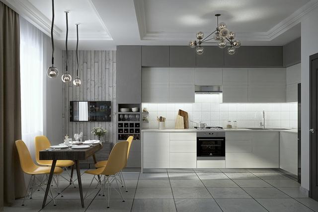 11. Có lẽ căn bếp sẽ ảm đạm nếu như thiếu đi bộ ghế ngồi màu vàng đầy sức sống.