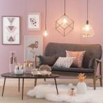Vẻ đẹp đầy lôi cuốn trong thiết kế nội thất của cặp đôi màu sắc đồng và hồng