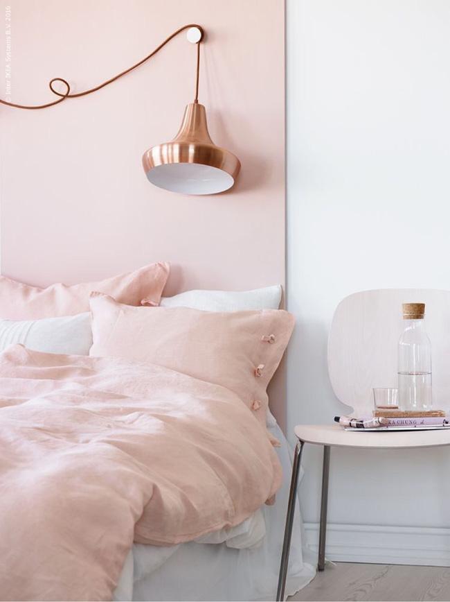 Vẻ đẹp đầy lôi cuốn trong thiết kế nội thất của cặp đôi màu sắc đồng và hồng - Ảnh 8.