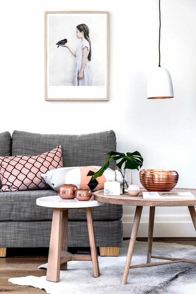 Vẻ đẹp đầy lôi cuốn trong thiết kế nội thất của cặp đôi màu sắc đồng và hồng - Ảnh 4.