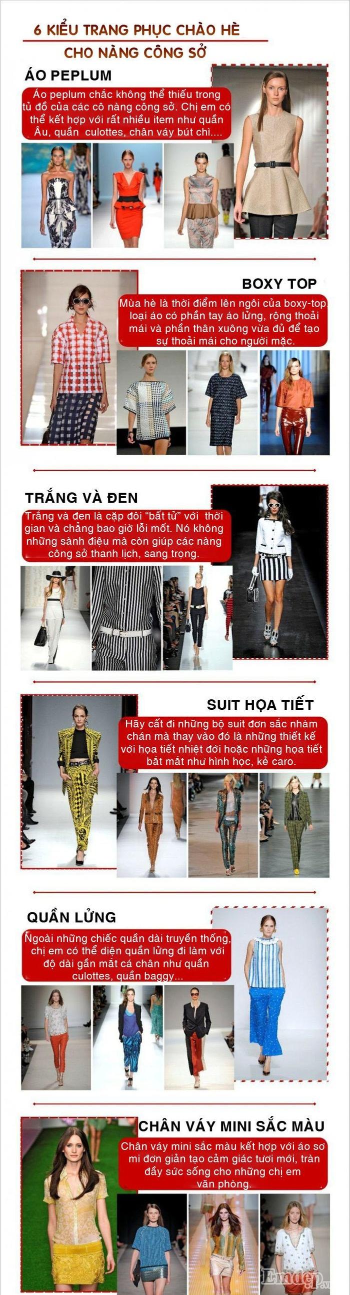 6 kiểu trang phục chào hè cho nàng công sở