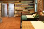 Cách sử dụng gỗ tái chế cho những bức tường phòng ngủ thêm quyến rũ