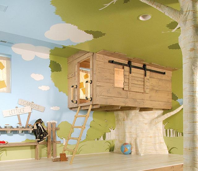Nhà trên cây cho bé con.