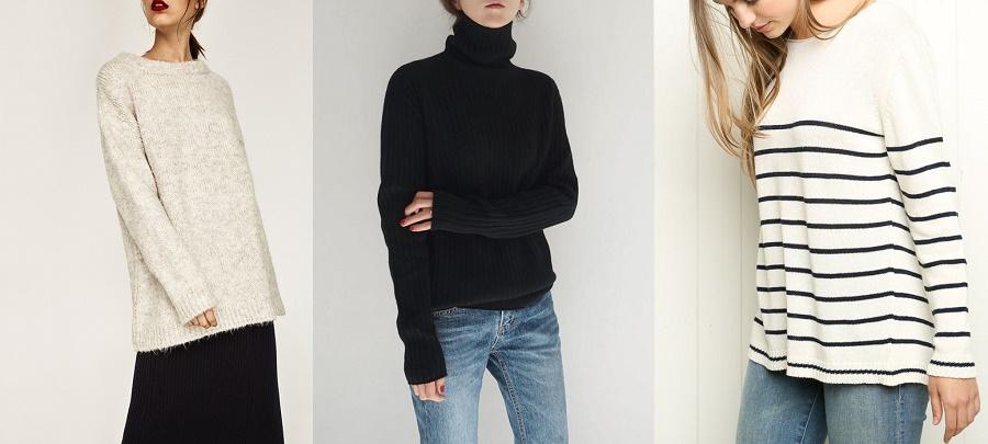3 kiểu áo len giấu dáng dành riêng cho những cô nàng vòng một khủng