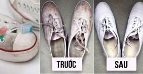 7 mẹo làm sạch giày vải ố vàng trở nên trắng tinh như mới mua