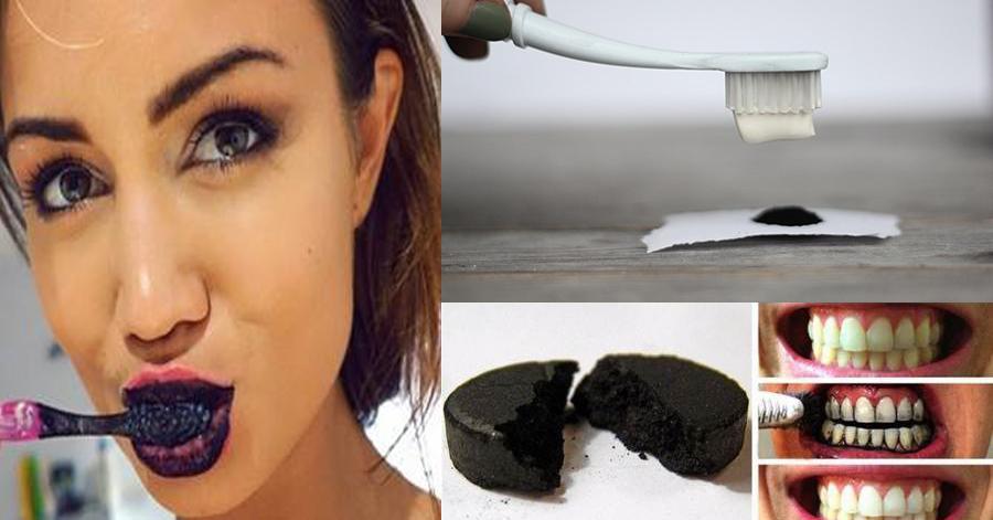 Làm trắng răng bằng than, phương pháp hay nhất định bạn phải thử