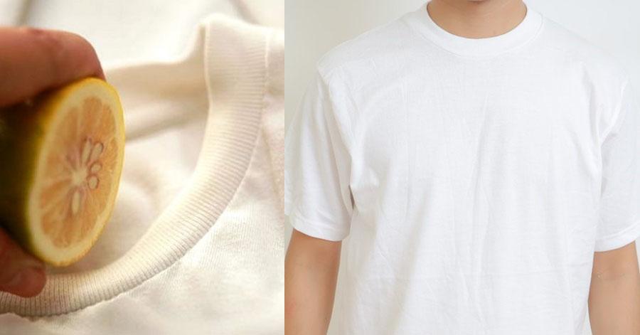 Chỉ với 1 quả chanh, chiếc áo đã cũ trở nên trắng sáng như mới sau 1 lần giặt