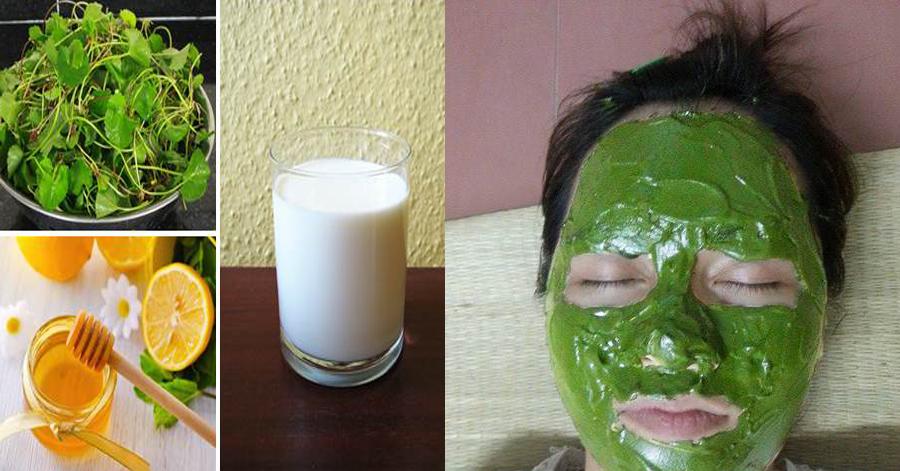 3 lần 1 tuần đắp rau má lên mặt theo cách này, da sáng mịn, ...