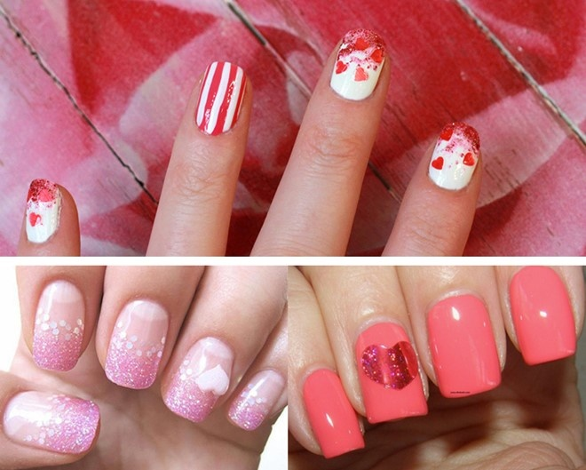 Bốn mẫu nail lãng mạn cho các nàng ngày Valentine