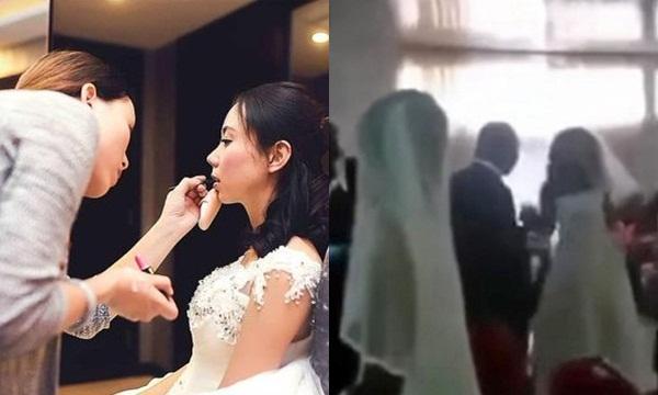 Đi trang điểm cô dâu trúng đám cưới bạn trai cũ, cô gái vẫn làm nhưng khi nhà trai tới đón dâu thì sốc ngất trước cảnh có 1-0-2 ấy