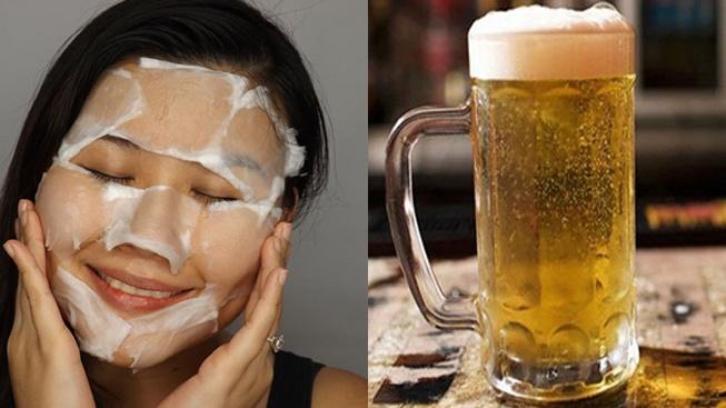 Rửa mặt bằng bia tốt cho làn da