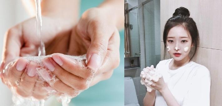 rửa mặt sạch giúp da mịn hơn