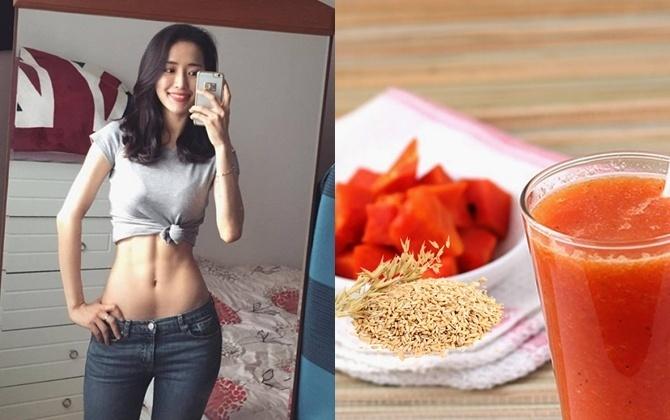 Thử ngay sinh tố yến mạch+ đu đủ vừa ngon lại giúp bạn gái tiêu diệt toàn bộ mỡ thừa cơ thể