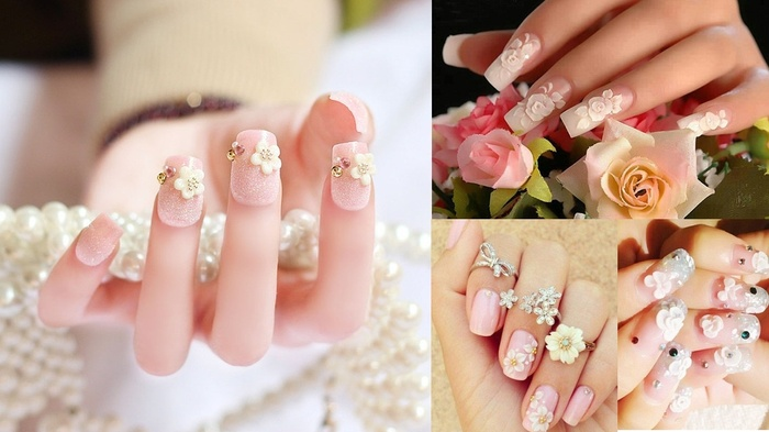 Những mẫu nail cực xinh cho nàng dâu trong ngày đại hỷ