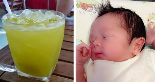 Uống nước mía, bầu bì khỏe ru, da sáng mịn mà con đẻ ra dài ngoẵng, trắng tươi, nặng tới 3kg8