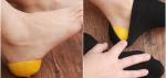 Thủ thuật đẹp hoàn hảo với việc bọc vỏ chanh vào gót chân
