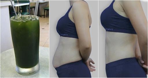 Em đã giảm được 5kg/tuần chỉ nhờ uống nước rau má theo cách này, các chị đi spa hút mỡ cũng phải chịu thua ngay