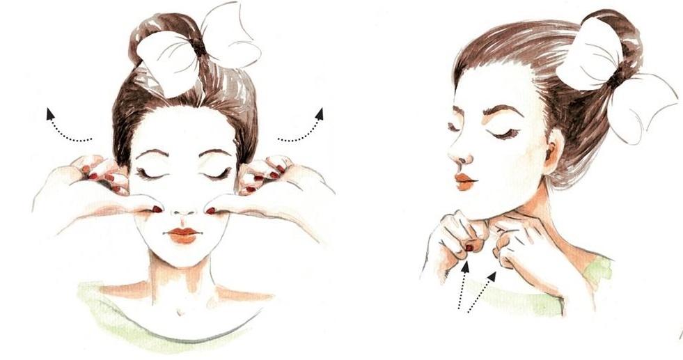 4 động tác massage vùng mặt giúp bạn mãi trẻ đẹp, không lo nếp nhăn