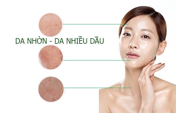 rửa mặt với da dầu